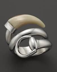 Gucci Horsebit Contraire Ring with White Horn Jewelry & Accessories - Fine Jewelry - Rings - Bloomingdale's Gucci Jewelry, Jewelry Rings, Jewelery, Jewelry Accessories, Fine Jewelry, Women Jewelry, Jewelry Design, Gucci Horsebit, Bracelets