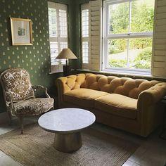 Farrow & Ball Bumble Bee Wallpaper - The Neo-Trad Trendy Wallpaper, New Wallpaper, Neutral Paint Colors, Gray Paint, Polka Dot Bedding, Pink Cushions, Gold Print, Farrow Ball, Interior