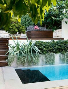 4 of the best swimming pool designs Gorgeous gardens, beautiful swimming pool Swimming Pool Landscaping, Cool Swimming Pools, Swimming Pool Designs, Backyard Landscaping, Landscaping Ideas, Pool Backyard, Backyard Ideas, Living Pool, Outdoor Living