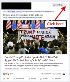 """When you see false information like this hoax, click on the """"v"""" menu in the upper-right corner of the post. 