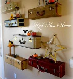 Upcycled suitcases at Red Hen Home — Charming Ink