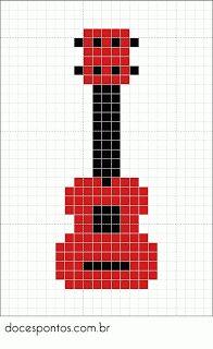 Guitar perler bead pattern