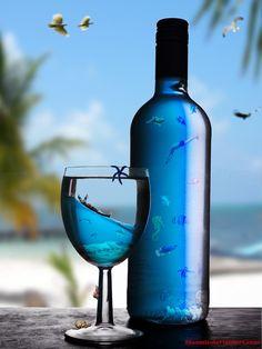 Sea Life in the Bottle by *hiaamir on deviantART