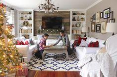 Long skinny living room.