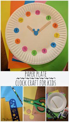 Paper Plate Craft, Clock Craft, Kids Crafts, Easy Craft, Fun Craft, Number Craft