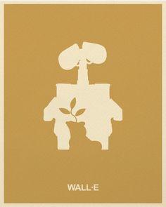 pixar minimalist posters