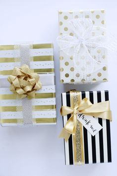 Gift wrapping is one of those things that looks insanely easy, but can endup being the most tedious part of your holiday prep. Bows...