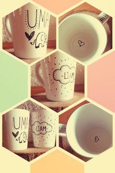 Tazas on pinterest mugs coffee mugs and coffee mug sharpie - Tazas decoradas a mano ...