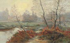 A Woodland flux de Albert Gabriel Rigolot (1862-1932, France)