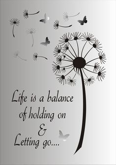 Life is a balance of holding on and letting go Stencil - Reusable STENCIL - 7 Sizes Available - Create Inspirational Signs ! - Life is a Balance of holding on and letting go…. This ad is for the blue mylar professional stenci - Stencils, Tree Stencil, Me Quotes, Motivational Quotes, Spirit Quotes, Inspirational Signs, Inspiring Quotes, Stencil Designs, Positive Quotes