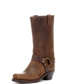 Maple and West Frye Women's Crazy Horse Harness 12R Boot - Tan
