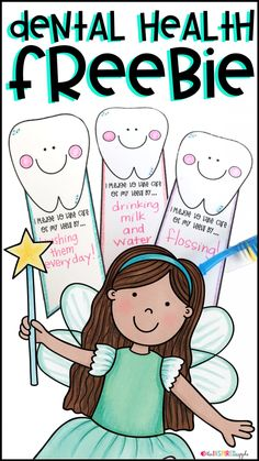 If you need a quick FREE activity to do with your kiddos in February for Dental Health Month, check out this free printable! Provide each student with a badge for them to write their dental health pledges. Then, they can cut out the badges and where as a Health Activities, Kindergarten Activities, Preschool Activities, Space Activities, Dental Health Month, Oral Health, Health Unit, Kids Health, Dental Hygiene