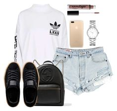 Untitled #278 by champagnayegang on Polyvore featuring polyvore fashion style adidas Puma Gucci Marc by Marc Jacobs clothing
