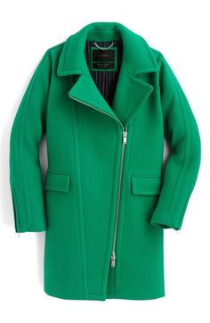 J.Crew Devin Stadium Cloth Wool Blend Coat available at #Nordstrom