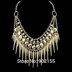 Cheap necklace pendant, Buy Quality collar long directly from China collar necklace beaded Suppliers:  start172908416715216     Bohemia Jewelry black blue white Color Imitat   US $10.69       Ethnic Style Gold Plated Alloy