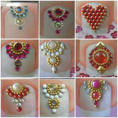 Manicures, E Design, Crystal Jewelry, Nail Art, Brooch, Queen, Crystals, Beautiful, Nail Jewels