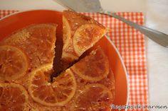 Bizcocho invertido de naranja confitada
