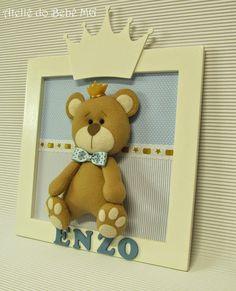 Ateliê do Bebê MG: Quadrinho Urso Príncipe ( Enzo )