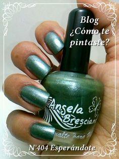 Colección Otoño-Invierno Angela Bresciano #swatches #nails #uñas #comotepintaste #esmaltes #polish #green #verde #angelabresciano