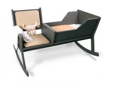 Modern and Comfortable Rocking Chair with Baby Cradle