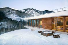 Linear #House in #Aspen / Studio B #Architects