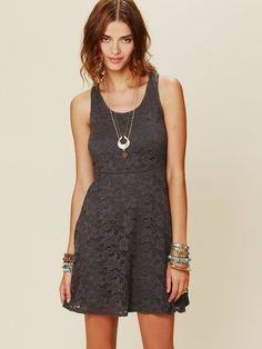 Free People - Kristals Lace Fit and Flare Dress - Lyst