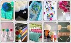 ¿Ya sabes hacer pompones de lana? Pues ahora toca usarlos en diferentes manualidades. ¡Vamos en busca de inspiración!