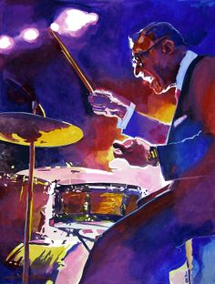 Big Band Ray McKinley by David Lloyd Glover ~ watercolor