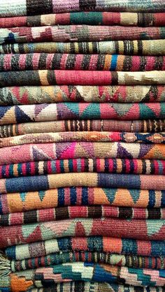 Pile of lovely arabic carpets
