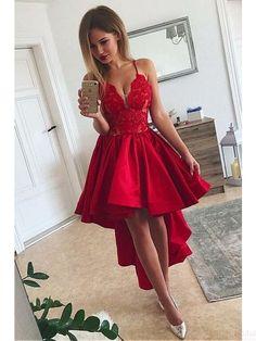 034fd87e4 Las 29 mejores imágenes de Vestidos Rojos Cortos