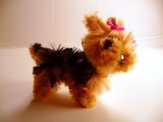 pipe cleaner yorkie- maybe a decoration for the outside of Bucky and Ursula's gifts?