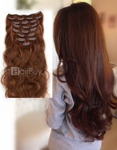 Charming curly hair. Rich your hair volume with simple clip in hair extension, be a charming you!