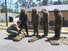 Sniper School at Fort Benning: Ghillie Suit - YouTube