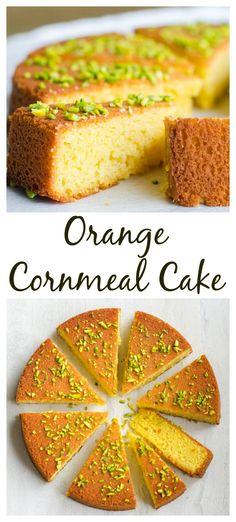 Orange Blossom Honey Glazed Cornmeal Cake Source by elegantmeraki Gluten Free Baking, Gluten Free Desserts, Fun Desserts, Delicious Desserts, Dessert Recipes, Yummy Treats, Sweet Treats, Cornmeal Cake Recipe, Cornmeal Recipes