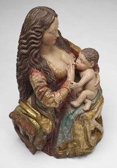 Pope Francis Encourages Breast-Feeding Mother in a Public Place {Virgin of the Milk (Virgen de la Leche), by Gil de Siloé, circa 1500.}