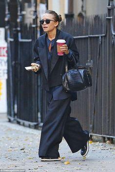 Mary-Kate Olsen and new husband Olivier Sarkozy flash wedding rings - Celebrity Fashion Trends