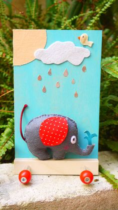 Nursery Kids Elephant Clothes rack by FabLabCrafts on Etsy Cute Elephant, Felt Fabric, Handmade Clothes, Kids Room, Nursery, Etsy, Diy Clothing, Room Kids, Felt Baby