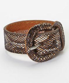 Look what I found on #zulily! Bronze Metallic Lizard Buckle Bracelet by I Love Accessories #zulilyfinds