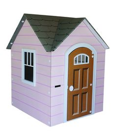 Take a look at this Pink Cottage Playhouse by Beezer Playhouses on #zulily today!