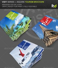 Travel And Tourism Brochure  Caribbean Beach  Brochure Design