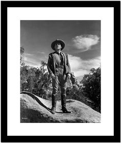 James Cagney standing with Hands on the Side in Cowboy Outfit and Leather Boots Premium Art Print