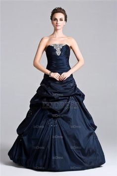 Ball Gown Strapless Sweetheart Floor-length Chiffon Prom Dress - IZIDRESS.com at IZIDRESS.com