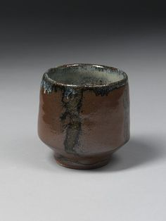 Tea bowl |  Place of origin: Mashiko, Japan (made), about 1935-1950 (made) | Artist/Maker: Hamada, Shoji, born 1894 - died 1978 (maker) | Stoneware with rust brown and mottled bluish glazes | V&A Search the Collections