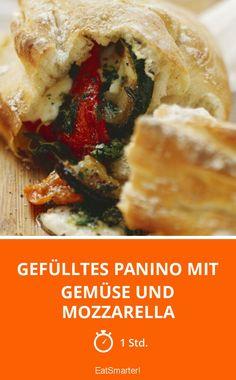 Gefülltes Panino mit Gemüse und Mozzarella