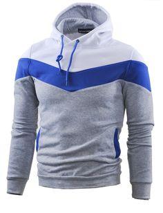 Amazon.com: Mooncolour Mens Novelty Color Block Hoodies Cozy Sport Autumn Outwear: Clothing