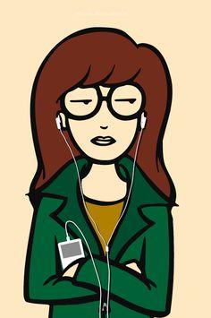 I have low esteem for everyone else. Daria is my spirit animal. Daria Morgendorffer, Cartoon Icons, A Cartoon, Banksy, Female Characters, Cartoon Characters, Daria Mtv, Nerd Love, Spirit Animal