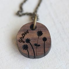 Grow inspirational necklace by TinyWhaleStudio on Etsy, $16.00 Tiny Whale Studio