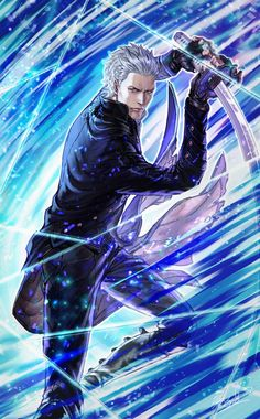 Vergil (Devil May Cry) Image - Zerochan Anime Image Board Date A Live, Devil May Cry, Game Character, Character Design, Vergil Dmc, Dmc 5, Fanart, Demon Hunter, Video Game Art
