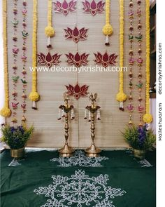 Trendy Traditional Eco-friendly decor for a function. Pellikoothuru decor by Madhusudhan of is a unit of 𝒎𝒆𝒔𝒔𝒂𝒈𝒆 𝒊𝒔 𝒄𝒍𝒆𝒂𝒓! 𝑳𝒆𝒕 𝒏𝒐𝒕 𝒚𝒐𝒖𝒓 𝒄𝒆𝒍𝒆𝒃𝒓𝒂𝒕𝒊𝒐𝒏𝒔 𝒂𝒅𝒅 𝒕𝒐 𝒘𝒐𝒓𝒍𝒅 𝒑𝒍𝒂𝒔𝒕𝒊𝒄 𝒄𝒓𝒊𝒔𝒊𝒔 we use only nat Diwali Decorations At Home, Outdoor Wedding Decorations, Backdrop Decorations, Festival Decorations, Flower Decorations, Eco Friendly Ganpati Decoration, Ganpati Decoration Design, Desi Wedding Decor, Wedding Backdrop Design