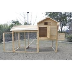 Chicken Coop - Love that everything is able to open up for easy access, slide out tray for cleaning, run area underneath.